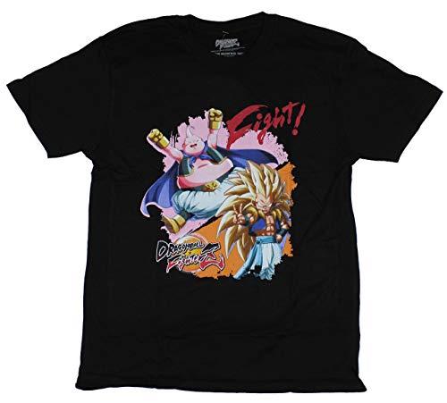 Dragon Ball Fighter Z Mens T-Shirt - Gotenks vs Buu Image (Medium) Black