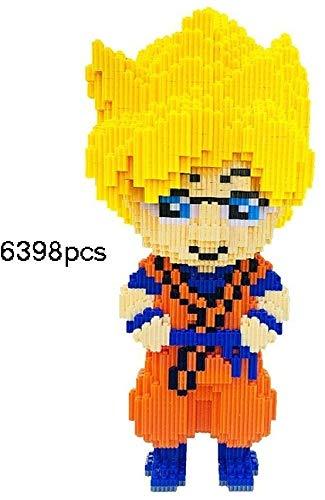 Zenghh 41cm Micro Building Blocks Comic Super Saiyan Ladrillos Manga Dragon Ball Z Sagas Son Goku Nano-Mini diamante 3D DIY Kit Puzzle Juego Modelo aficionados muñeca for el cabrito adulto presente en