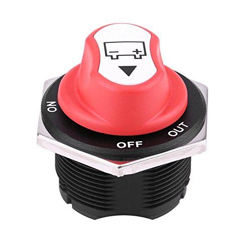 Qiilu Batterieschalter, 32 V DC Batterieschalter Batterie 200A WEITER 300A INT Auf/Aus Autobatterie Isolator Schalter für Autos Offroad Fahrzeug Lkw(8mm)