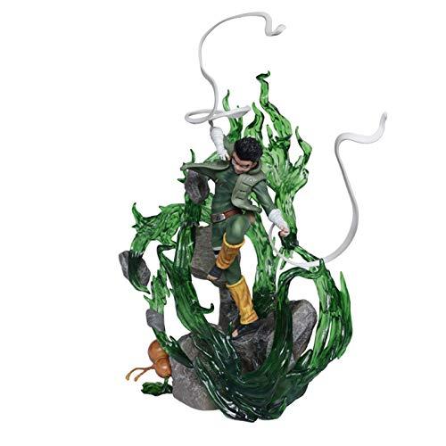 KCFF Naruto Rock Lee Estatua Acción Figura Ocho Puertas Interiores Naruto Shippuden Anime Figurine Diorama Coleccionable Modelo De Juguete