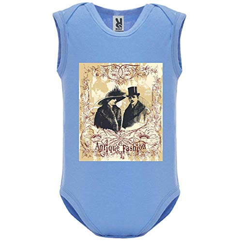 Body bébé - Manche sans - Antique Fashion - Bébé Garçon - Bleu - 6MOIS