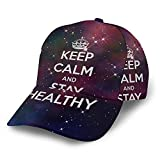 Gorra de béisbol Keep Calm and Stay Healthy Galaxy 3D ajustable Snapback al aire libre Trucker Sombreros Negro