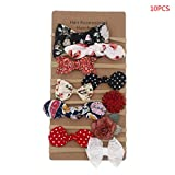 JIACUO 10 Teile/Satz Mode Kinder Mädchen Blumen Bogen Haarband Baby Fotografie Stirnband