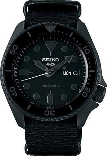 Seiko 5 Street Herren-Uhr mit Titankarbidauflage und Textilband SRPD79K1