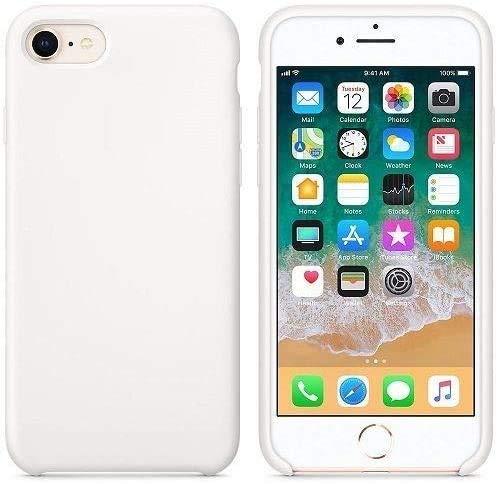 New Phoone - Funda de Silicona iPhone | Funda de iPhone 7 - Funda iPhone 8 o Funda iPhone SE 2020 - Funda Ligera con Tacto Suave, Resistente y Antigolpes de Color Blanco