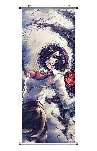 CoolChange Großes Tokyo Ghoul Rollbild/Kakemono aus Stoff Poster, 100x40cm, Motiv: Touka Kirishima