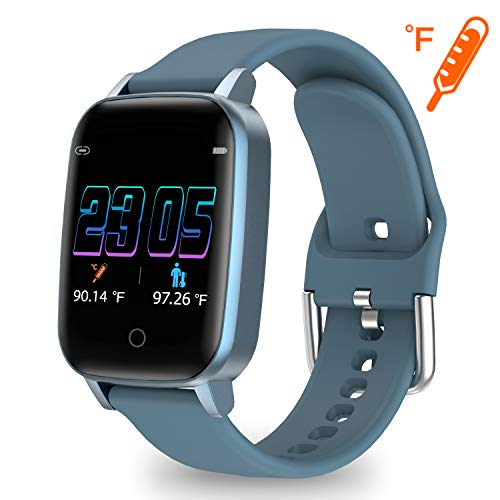 moreFit Activity Tracker Smart Watch with Body Temperature Measuring, Heart Rate Monitor Health Fitness Tracker Watch with Breath Guide Pedometer Sleep Monitor for Women Men Kids