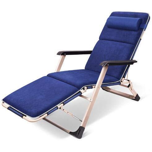 MJ-Brand Heavy Duty Zero Gravity - Silla reclinable de jardín Plegable con Tumbona para Exteriores con reposacabezas Acolchados Ajustables