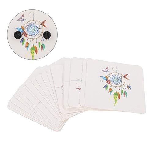 Cartes en papier de bijoux 100Pcs Type A/B/C(Feather pendant)