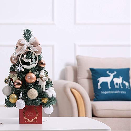 HTHJA Mini Árbol De Navidad, Pequeño Árbol De Navidad con Luces, Árbol...