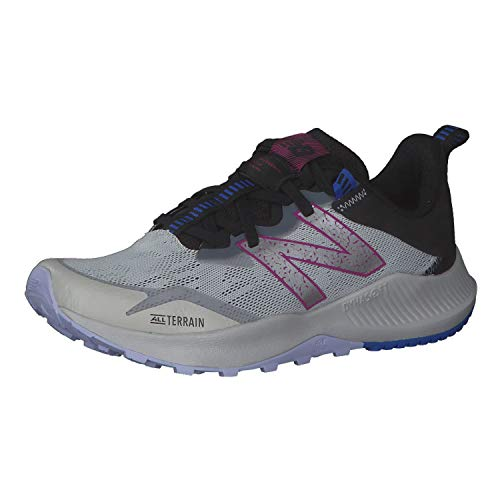 New Balance Nitrel v4 Trail, Zapatillas Mujer, Gris Aluminio Ligero, 37 EU