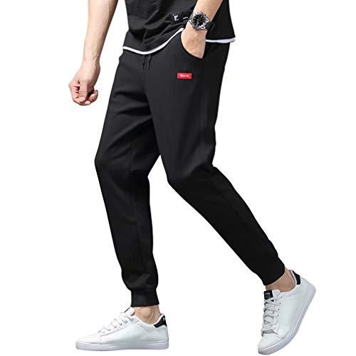 Muxuryee スウェット メンズ パンツ ジャージ メンズ 下 ズボン ジョガーパンツ スポーツウェア パンツ カジュアル無地 ポケット付き xk88RBK M