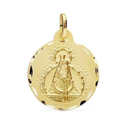Medalla Oro 18K Virgen Cabeza 22mm. [Ab0781Gr] - Personalizable - Grabación Incluida En El Precio
