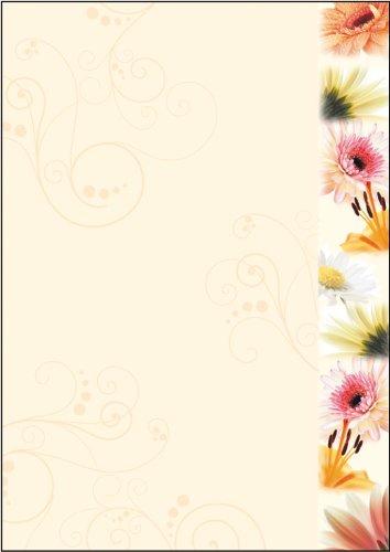 """SIGEL DP788 Motiv-Papier """"Flowerstyle"""", Briefpapier 90 g, DIN A4, 50 Blatt"""