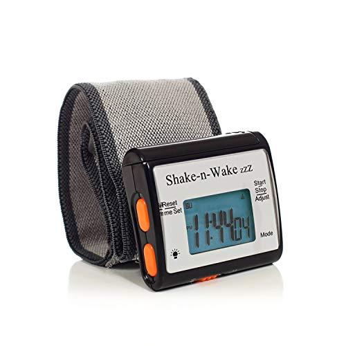 Tech Tools Shake-N-Wake Silent Vibrating Alarm Clock Black
