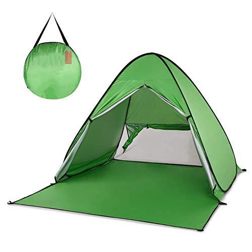GOOHEAL Automatisches Campingzelt, Schiff von Ru Beach Zelt 2 Personen Zelt Sofort Pop-up Öffnen Sie Anti-UV-Markisenzelte Outdoor Sunshelter