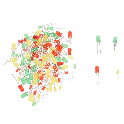 SODIAL(R) 3mm et 5mm Ronde super lumineux LED diode electroluminescente LED Lumiere - 120 pcs