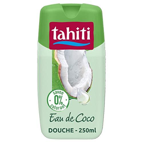 TAHITI - Gel douche Tahiti Paradis 0% Eau de Coco - Sans Savon ni Colorant - pH Neutre - Enrichi d'agent hydratant - Flacon de 250 ml