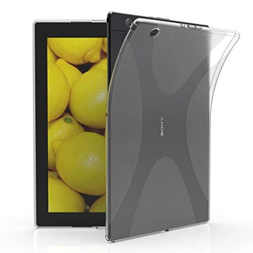 kwmobile Hülle kompatibel mit Sony Xperia Tablet Z4 - Silikon Tablet Cover Hülle Schutzhülle Transparent