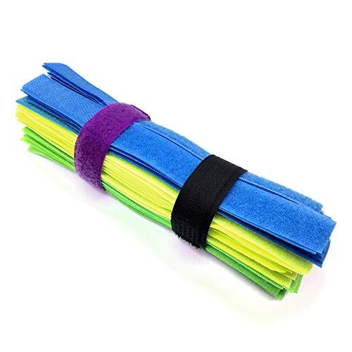 Ymwave Reutilizables Universal Multicolor Velcro Cable Fijación Gestión Organizador Cuerda Home Office...