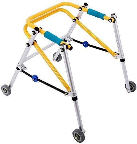 Gehrahmen Rollatoren Training Rahmen Walker Oriented Vierrädrige Kinder Walker untere Extremität Rehabilitation Walker leichtgewichtrollator faltbar (Size : Small)