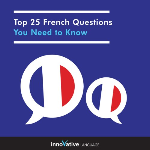 Top 25 French Questions You Need to Know audiobook cover art