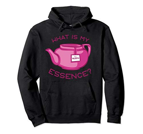 Philosotea What Is My Essence? Philosophy Pun Design Pullover Hoodie