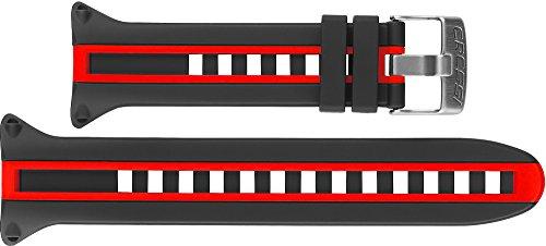 Cressi Strap Newton Titanium Correa Ordenador, Unisex, Negro/Rojo, Talla Única