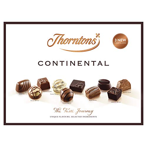 Thorntons Continental Chocolate Gift Set, Assorted White, Milk and Dark Chocolates, 284 g, 25 Pieces