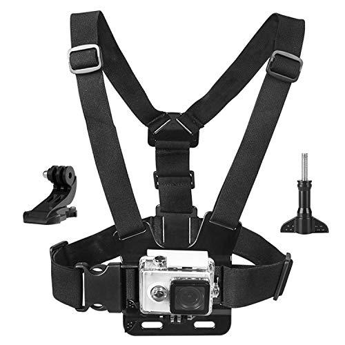 Topmener Chest Mount Harness borstband Compatibel met Gopro Hero 7, 6, 5, Zwart, Session, Hero 4, Session, Zwart, Zilver, Hero+ LCD, 3+, 3, 2, 1, DJI Osmo - Volledig verstelbaar