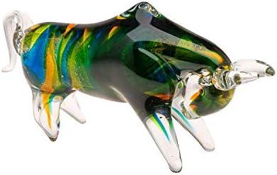 Figura de Cristal - Estilo Murano Antiguo - Toro Bravo - 24cm, 1,2kg