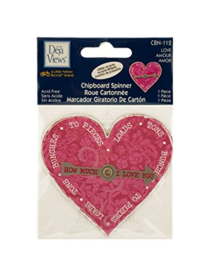 StealStreet SS-KI-CG376 Love Chipboard Spinner Sticker