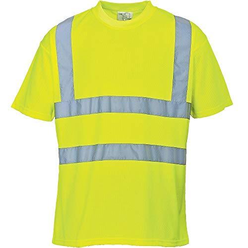 Portwest S478 - Hi-Vis Camiseta, color Amarillo, talla Medium