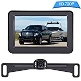 DoHonest Backup Camera and Monitor Kit HD 720P Easy Installation for Car/Suv/Pickup/Truck/Van/RV/Trailer Single Power Rear View System Driving/Reversing Use IP68 Waterproof Night Vision