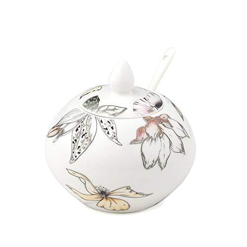 Hervit Art.28074 ZUCCHERIERA Porcellana Blooms Dia.10X10CM