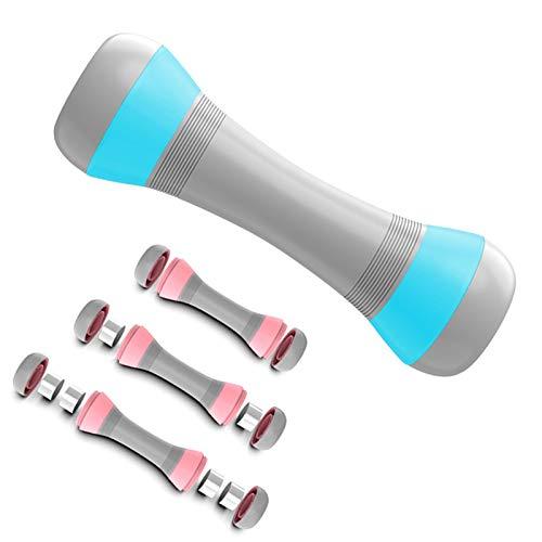 APJJ Hanteln 1kg -1.5kg - 2kg Frauen, Workout Kurzhanteln Set inkl. 1kg Hanteln und 4 Gewichtsstahlblöcke, Adjustable Kurzhantel Gewichte für Damen Kinder Gymnastik Training Krafttraining,Blau