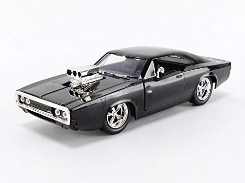 Jada Toys Fast & Furious 1:24 Dom's 1970 Dodge Charger R/T Die-cast Car Bare Metal, Toys for Kids and Adults