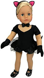 Sophia's Doll Jazz Costume, 2 in 1 | 5 Pc. Set. Jazz or Cat Costume for American Girl Dolls and More! (Doll Tap Shoes Sold Separately) Jazz Cat Costume