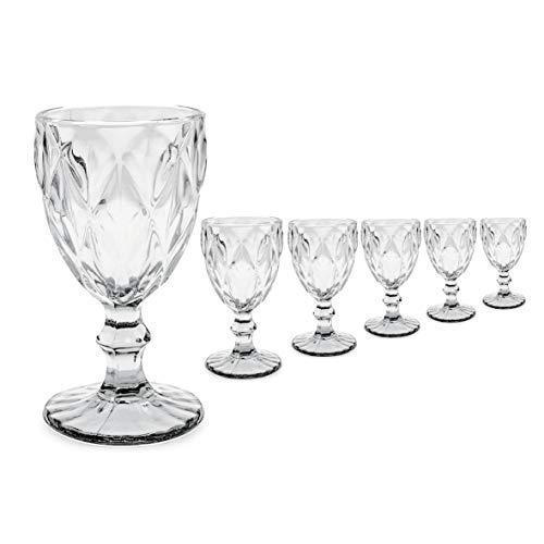 Copas Vino Cristal Vintage Marca Mobiliario Factory
