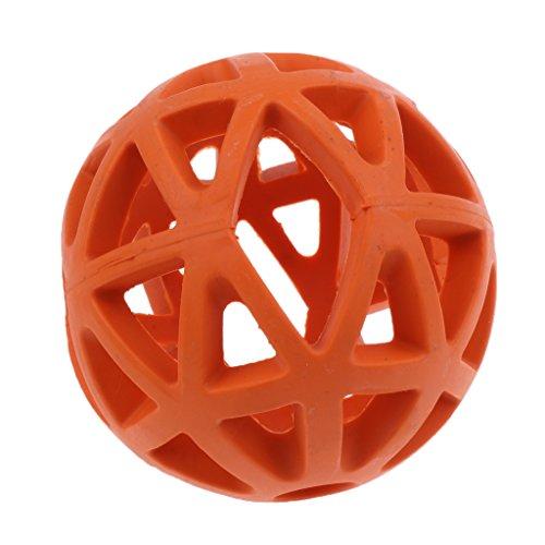 Homyl Gitterball Hundespielzeug Robustes Kauspielzeug für Hunde - Orange - L