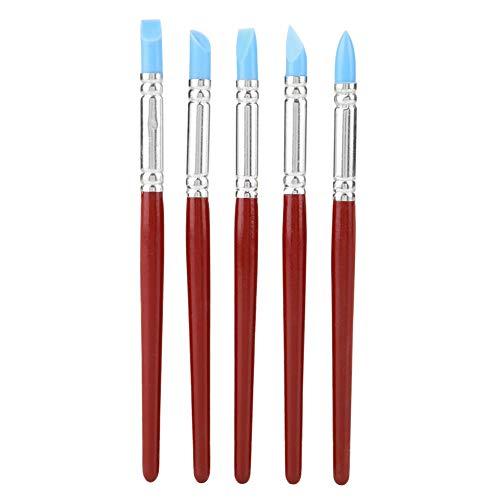 Pinceles de pintura de punta fina pequeña, marcadores de pintura de punta fina suave, silicona conveniente para tallar dar forma