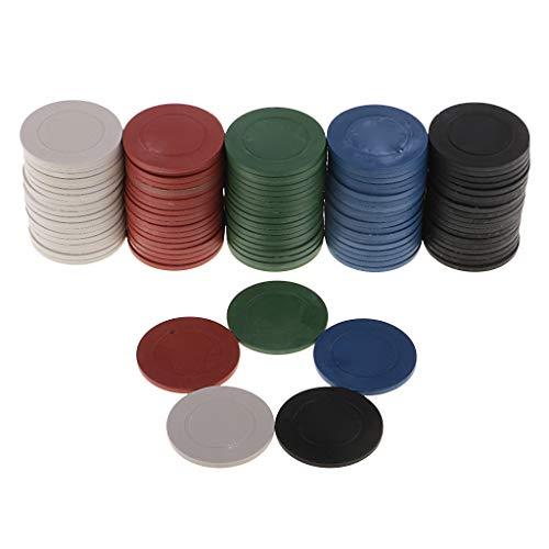 S-TROUBLE 20 Stück ABS Poker Chips Casino Baccarat Black Jack Chip Münzen Poker Kartenspiel Mahjong Würfel Chips Kein Nennwert Leerer Chip