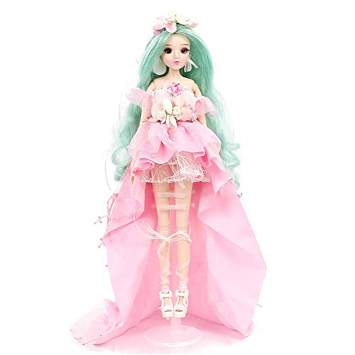 W&Y BJD Doll Set 1/6 30cm 12 inch Ball Jointed Dolls Surprise Toy for Girl Gift mit Kleidung Outfit Schuhe Perücke