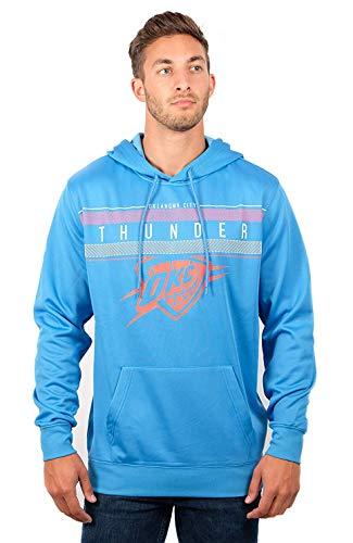 Ultra Game NBA Oklahoma City Thunder Mens Fleece Midtown Pullover Sweatshirt, Navy, X-Large