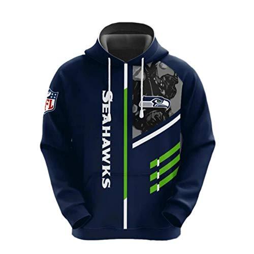 NFL Amerikanisch Fußball Seattle Seahawks Schnelltrocknend Süßigkeiten Farbe Sport T-Shirt Trikot Logo Reißverschluss-Sweatshirt Hoodies