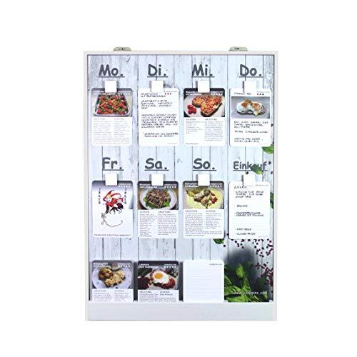 Rogge´s RelaxGrill Speiseplan CP5 mit 200 Rezeptkarten, wandhängend, Essensplaner, Menütafel, Kochkarten, Kochrezepte, Rezepttafel, Kochtafel, Familienkochbuch
