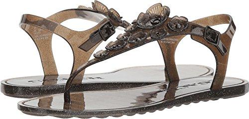 Coach Womens Tea Rose Split Toe Casual Sport Sandals, Black, Size 7.0