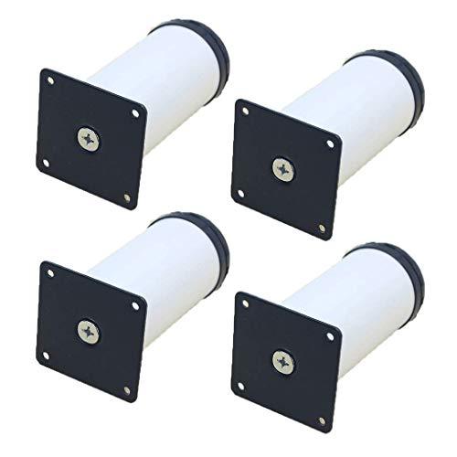 LMZJLU Patas de Mueble Patas de Mesa de Metal Ajustables de 25 mm Patas de Muebles de aleación de Aluminio Patas de Cocina de Repuesto Redondas Elevadores de Muebles Patas de sofá Patas de sofá Pat