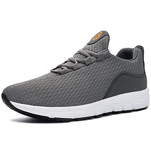 DYKHMILY Zapatos de Seguridad Puntera de Acero Luz Cómodo Anti Estático SRC Antideslizante Zapatos de Trabajo(Gris,39)