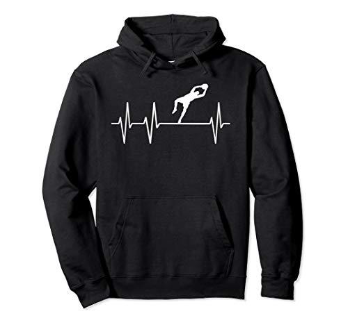 Fußball Torwart Heartbeat Herzschlag Trikot Outfit Geschenk Pullover Hoodie